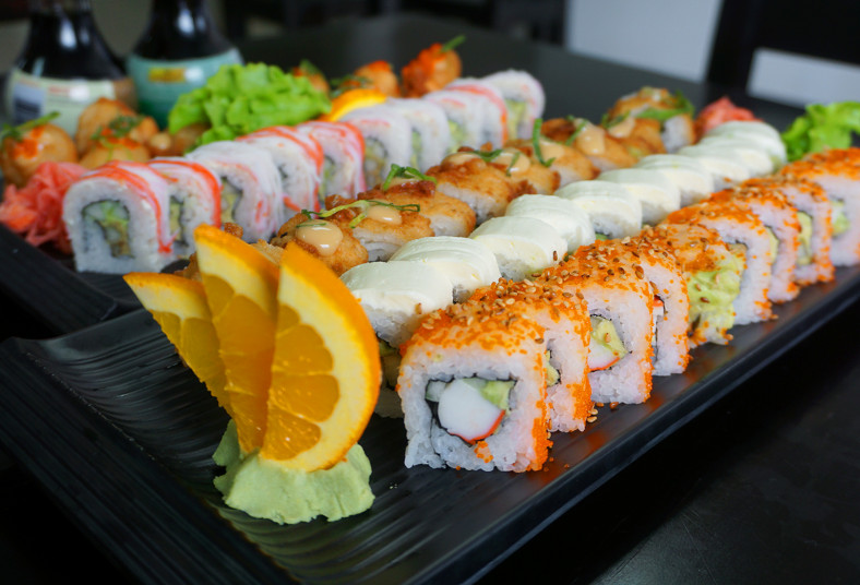 sushi, maki, take, roll, california, salmon, fly, nevado, sakana, boston, rollos