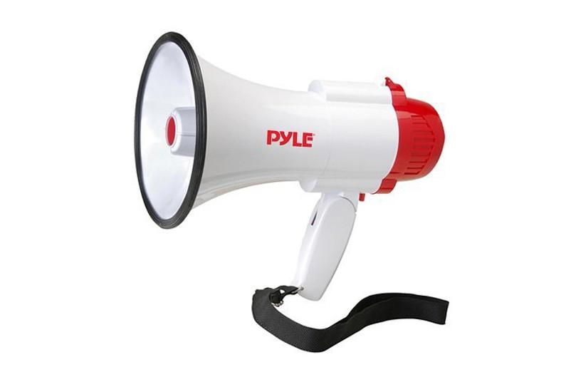 mall, virtual, 360, megáfono, sirena, voz, anuncios, empresas, volumen, pyle,