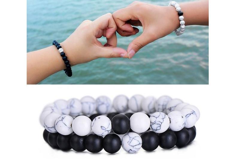 Mundoarte, pulseras, piedra, volcánica, ágata, cristales, pareja, regalo, día,