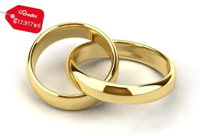 94bc0bc57adfc Pensás en boda  Adquirí 2 anillos de matrimonio en oro de 10k a ...