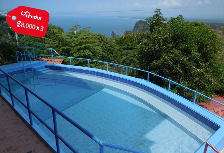 paraíso, vista, mar, manuel, antonio, piscina, pareja, playa, cocina, diversión,