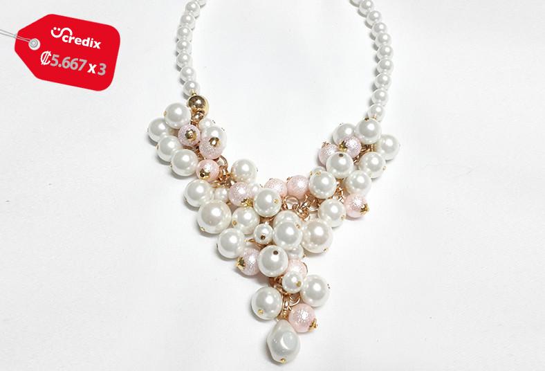 joyería, emilia, rodríguez, collar, perlas, laminadas, terminaciones, oro, bolsa
