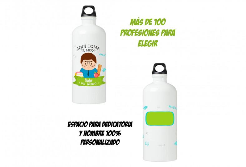 printtico, botella, agua, arnés, personalizada, profesiones, regalo, navidad,