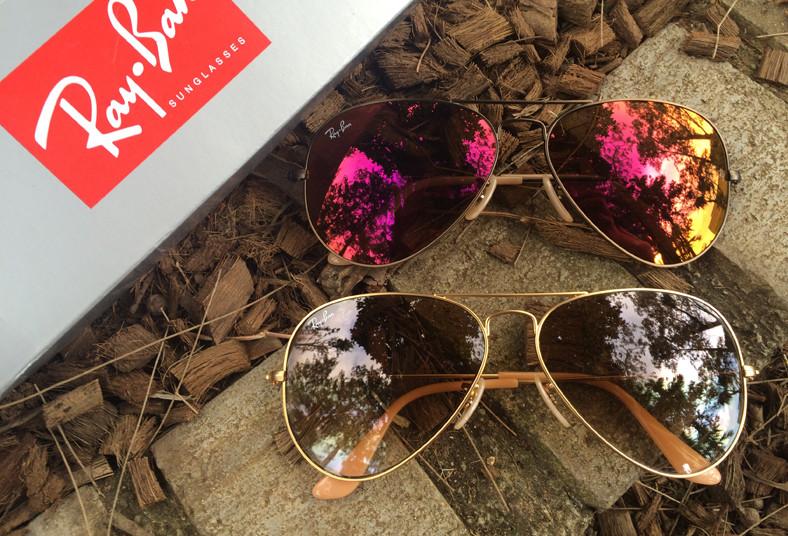 gafas ray ban lente de colores