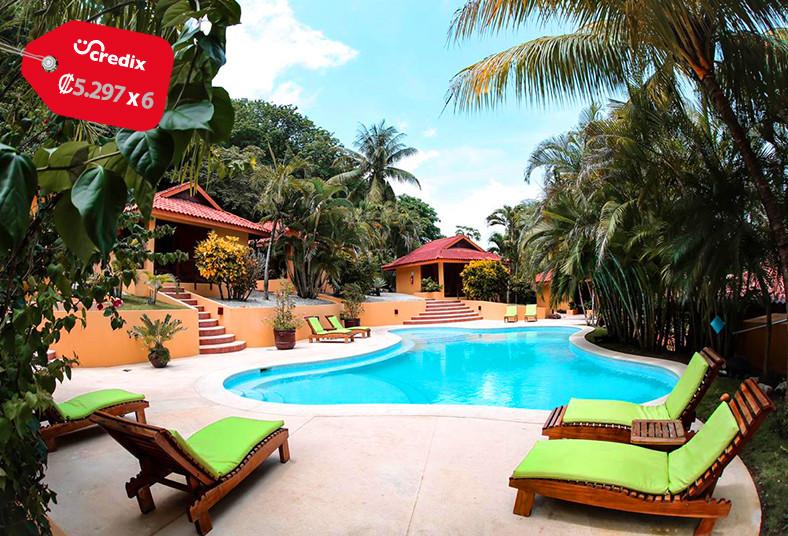 hotel, Ritmo, Tropical, malpaís, desayuno, piscina, naturaleza, bungalow, patio,