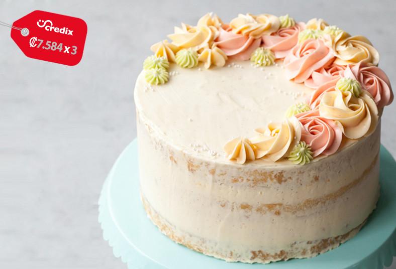 dolce, amaretto, cupcakes, pastel, cumpleaños, rosetas, relleno, decoración,
