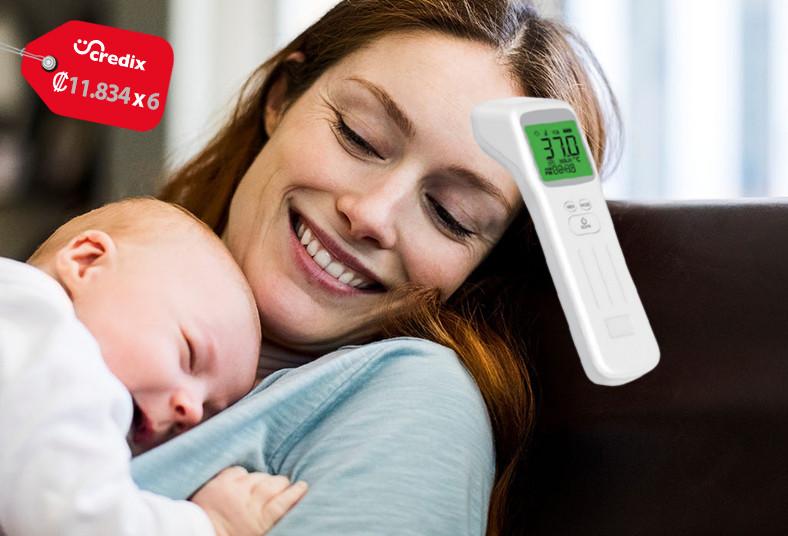 Salud, Mano, termómetro, salud, enfermedad, frente, coronavirus, envío, lemi