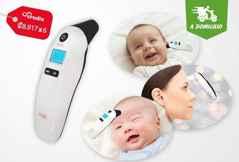 Salud, Mano, termómetro, salud, enfermedad, oído, frente, coronavirus, envío