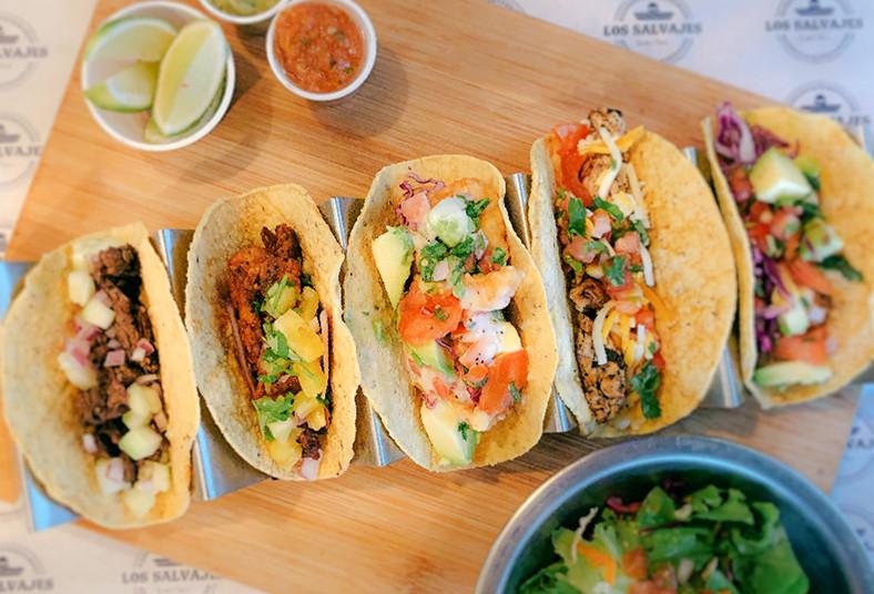 Salvajes, Tacos, Bar, sopas, aztecas, paponas, queso, cheddar, tacos, pastor