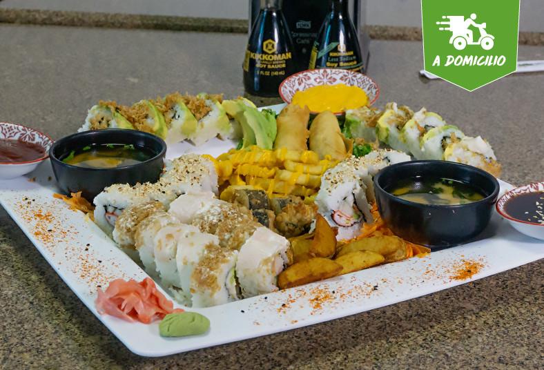 Restaurante, Japones, Sapporo, sushi, box, tacos, papas, queso, cheddar, sopas,