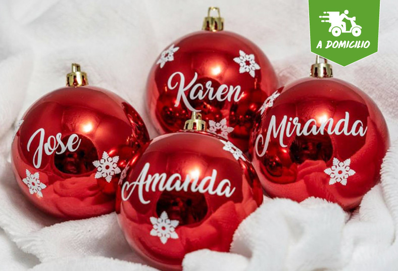 colchones, sleepy, esferas, navideñas, personalizadas, lacito, nombre, decorar
