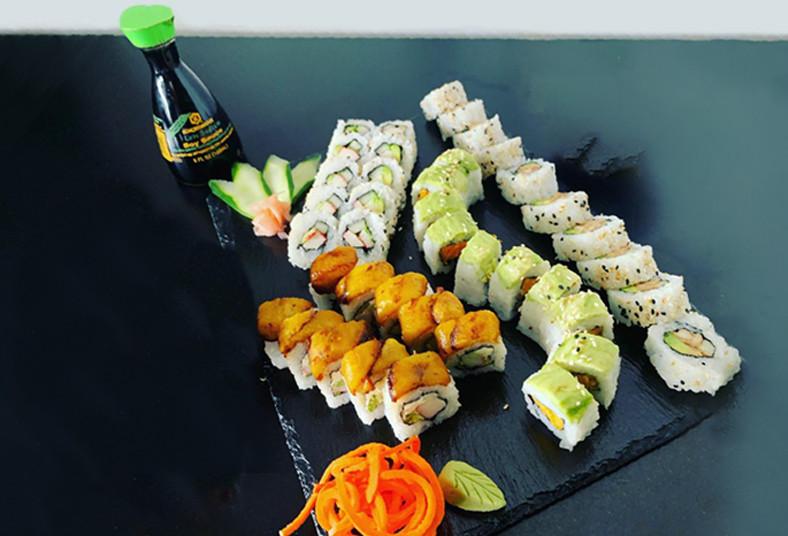 k, sushi, california, tico, chicken, vegetal, nevado, spicy, tuna, gyozas, sopas