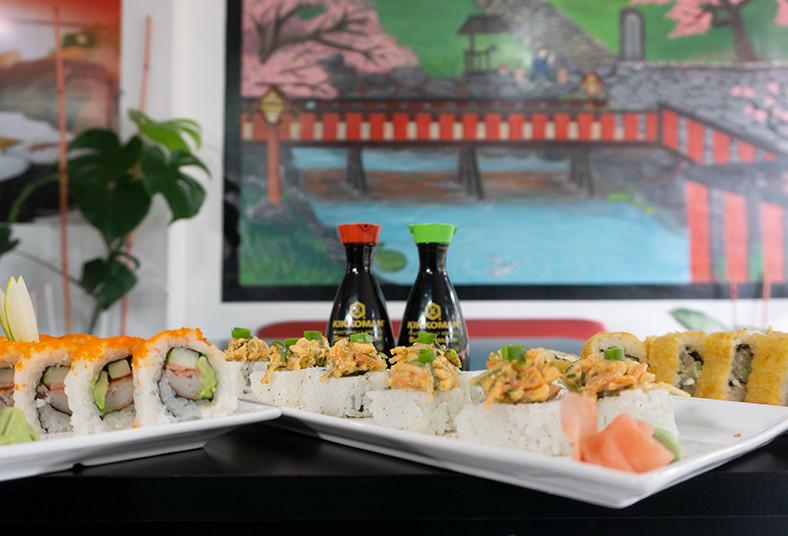 sushi, king, art, panko, california, salmon, king, sopas, miso, gyosas, almuerzo