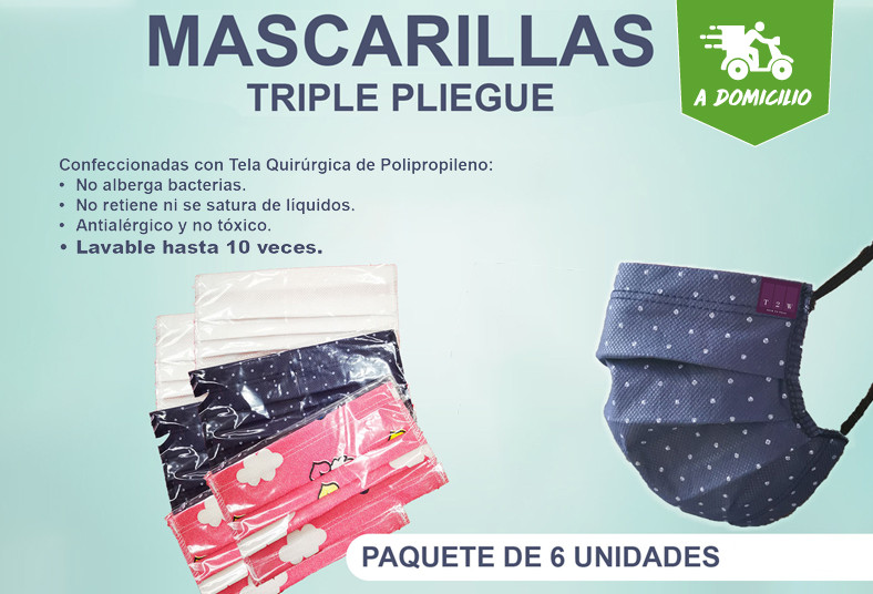 T2W, Textiles, mascarillas, triple, pliegue, tela, quirúrgica, coronavirus