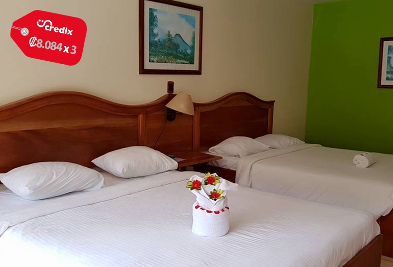 hotel, lavas, tacotal, habitación, doble, bungalow, familia, pareja, naturaleza,