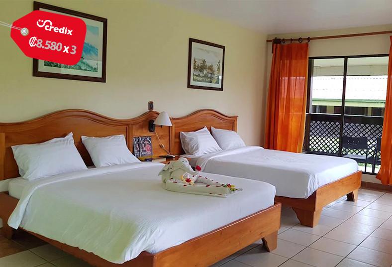 hotel, lavas, tacotal, habitación, estándar, bungalow, familia, pareja, fortuna