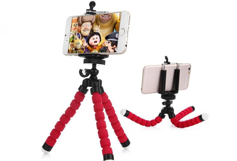 TDM, trípode, octopus, celulares, cámaras, flexible, superficie, fotografía, luz