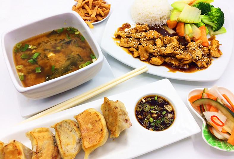 restaurante, don wang, sopa, miso, gyosas, cerdo, vegetales, pollo, teriyaki,
