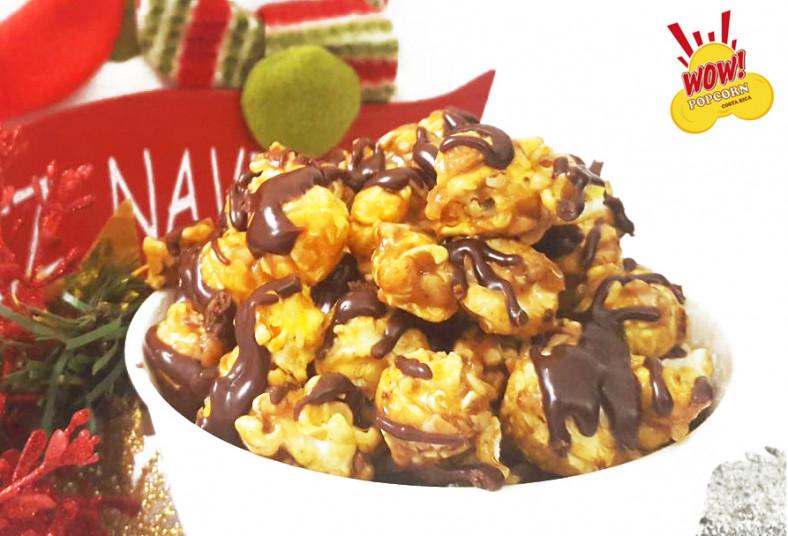 Wow, Popcorn, Costa, Rica, palomitas, sabores, navidad, caramelo, chocolate,