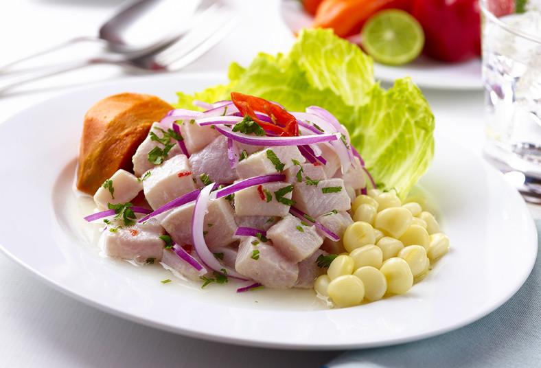 zocalo, continental, cocina, peruana, ceviche, pescado, camote, cebolla, limón